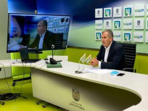 Rafa Domínguez rueda de prensa PP de Pontevedra
