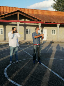 Reunión para hablar de las obras de saneamiento en el rural de Pontevedra