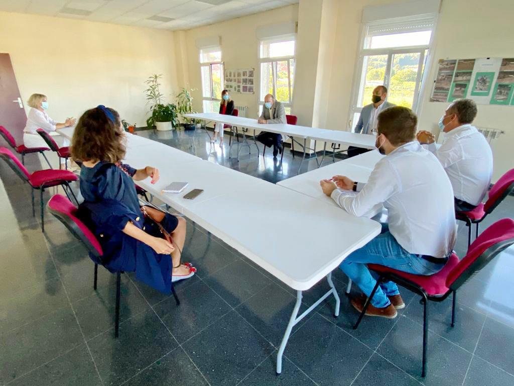 Reunión entre el PP y la asociación ONCE de Pontevedra