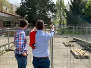 Pablo Fernández y Guille Juncal revisan estado obras río Gafos