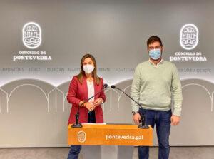 Pepa Pardo y Pablo Fernández, concejales PP Pontevedra