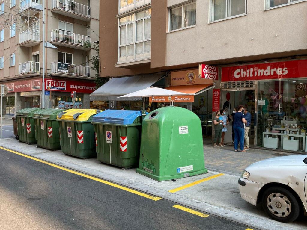 Domínguez insiste en la necesidad de implementar el sistema de basuras puerta a puerta en Pontevedra y pide eliminar los contenedores del centro urbano