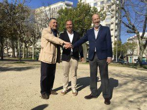 Con Rivas Fontán y Juan Luis Pedrosa