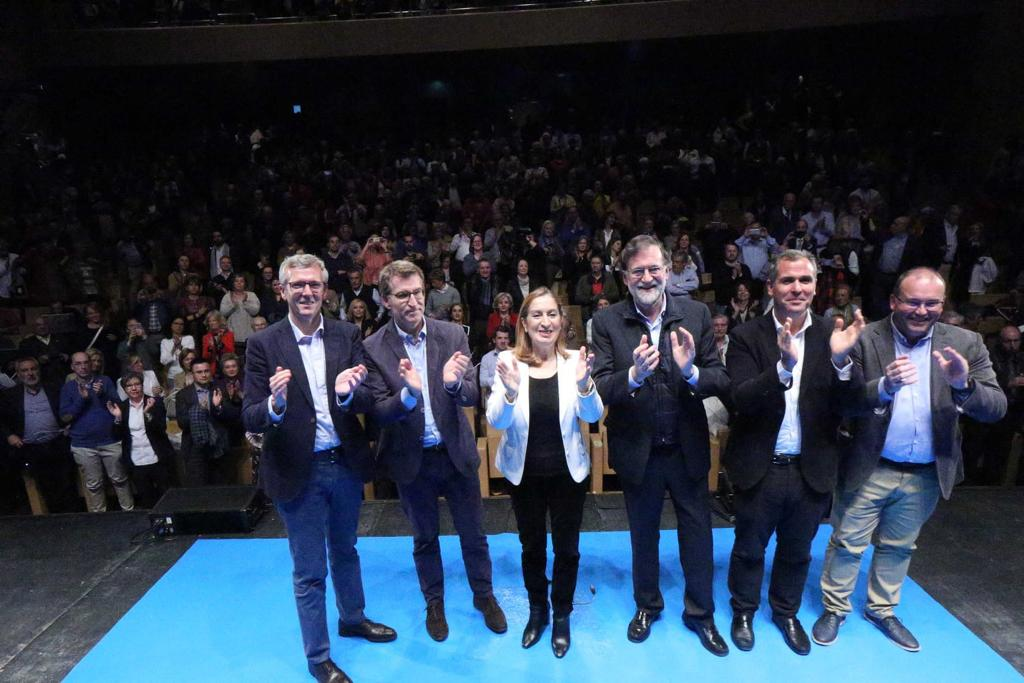 Mitin en Pontevedra con Mariano Rajoy elecciones generales 2019