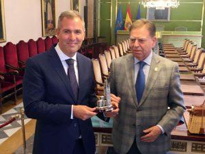 Rafa Dominguez con Alfredo Canteli