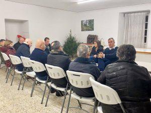 Rafa Domínguez, ronda de reuniones por el rural