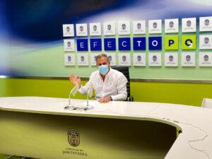 Rafa Domínguez en rueda de prensa pp de pontevedra
