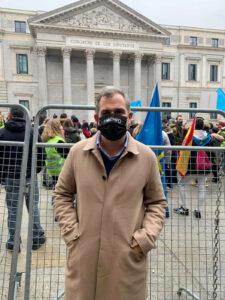 rafa dominguez apoyo HOEMPO en Madrid