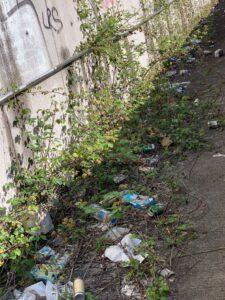 basura en las calles de Pontevedra