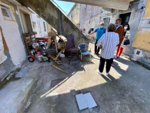 Rafa Domínguez y Pepa Pardo visitan A Seca